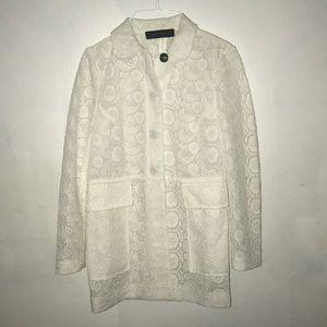 Zara White Lace Jacket